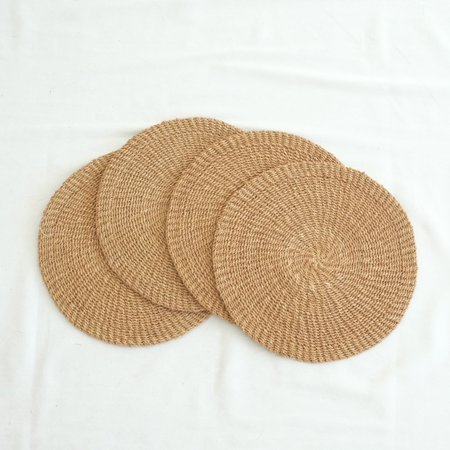 INNÉ Studios Abaca Round Placemat (Set of 4) - Camel