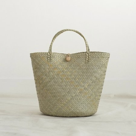 INNÉ Studios Pia Mixed Weave Tote Bag - NATURAL