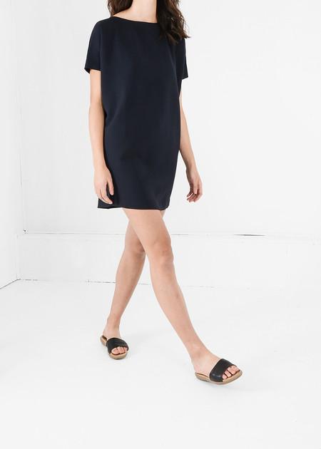 Kareem Black Angle Mini Dolman Open Back Dress