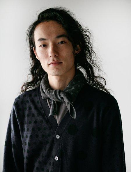 Meticulous Knitwear Bandana Scarf - Charcoal/Dots