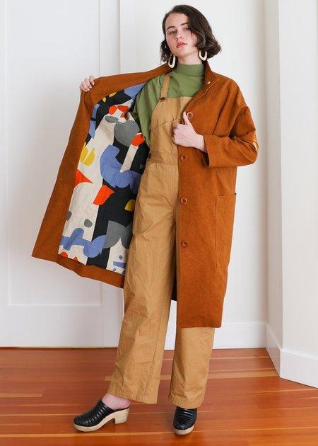 Gravel & Gold Lab Coat - Sienna Canvas