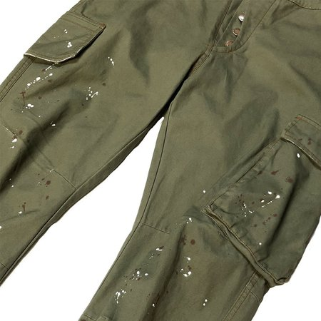 Fried Rice Painted Cargo Pant - Military
