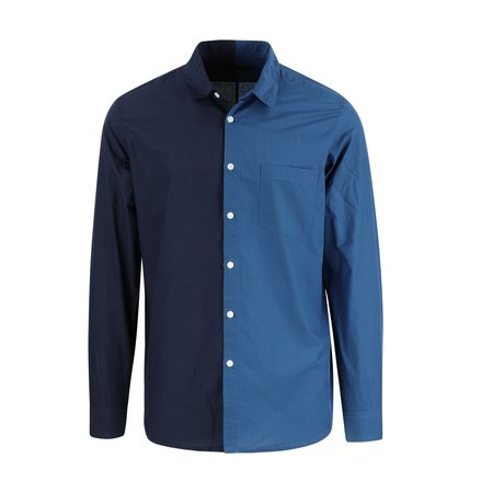 SOPHNET. Split Regular Collar Shirt - Indigo