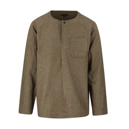 Engineered Garments Brushed Herringbone Med Shirt - Brown