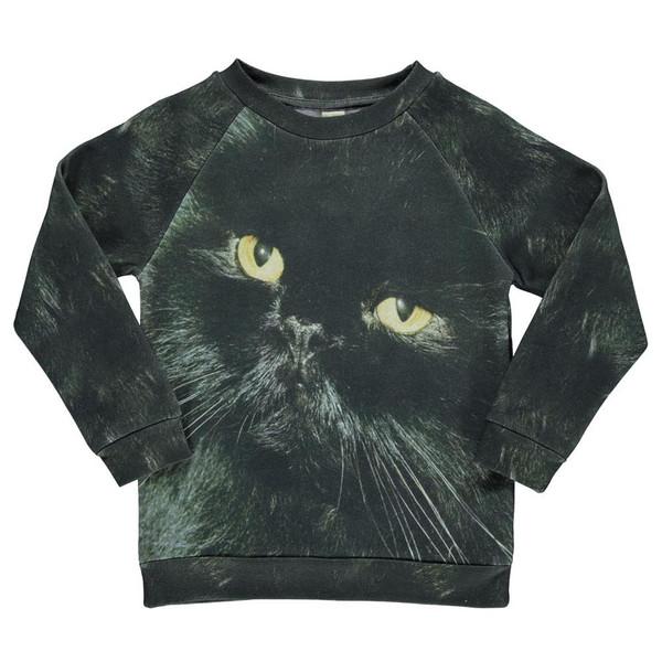 Popupshop Basic Sweat - Black Cat