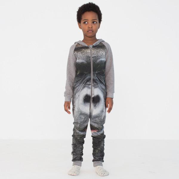 Popupshop Hoodie Suit - Gorilla Print