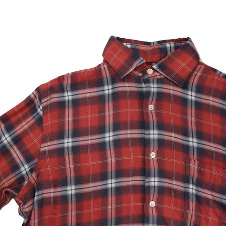 Hartford Paul Plaid Flannel Shirt - Red