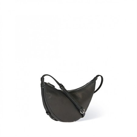 Jerome Dreyfuss Arnold Lambskin Saddle Bag - Noir Silver