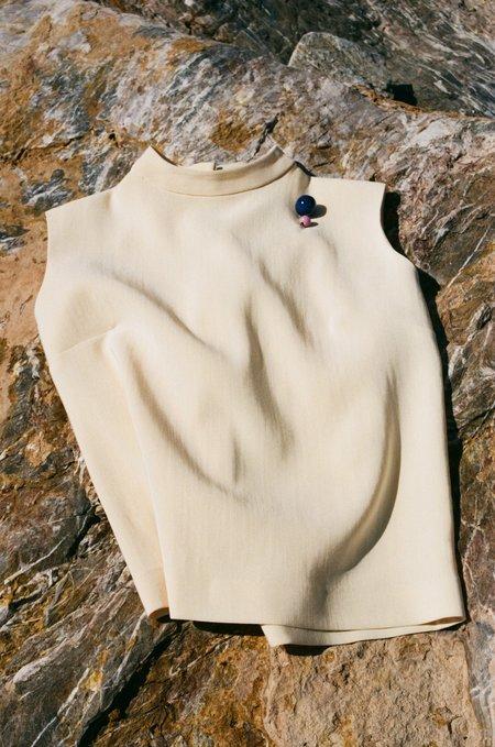La.Bleue Silk Top - Beige