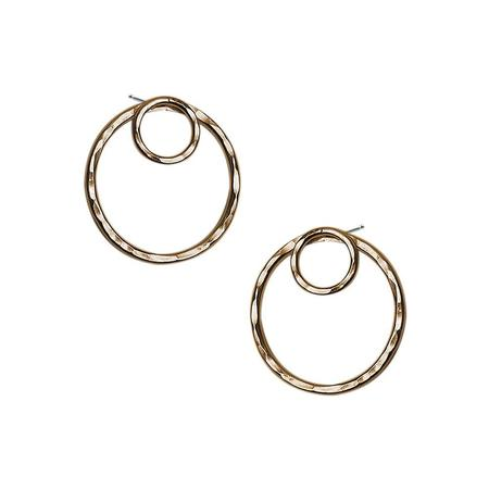 Strut Jewelry Hammered Circle Ear Jackets