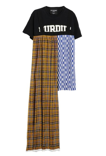 dry clean only Tiquetonne Check Train Tee - Multi