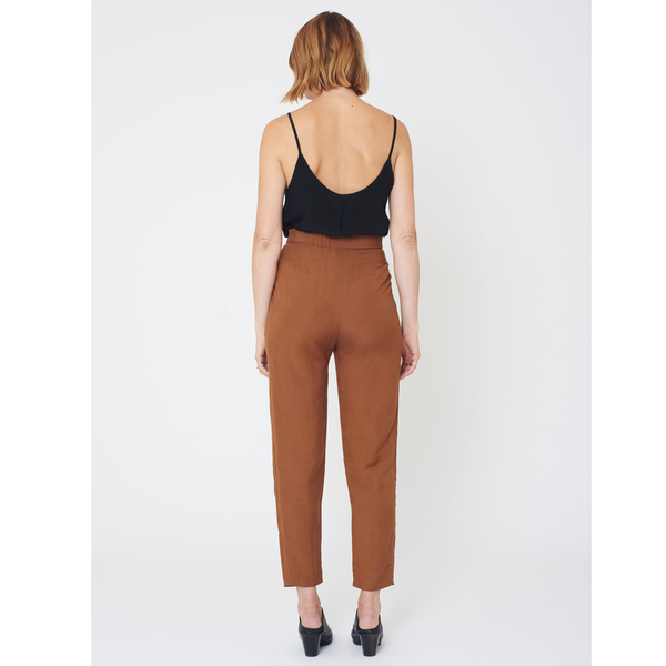 First Rite High Rise Trouser | Amber