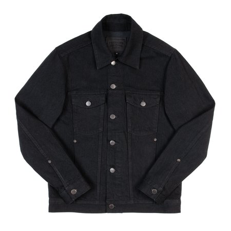 Freenote Cloth Classic Denim Jacket - Black Grey
