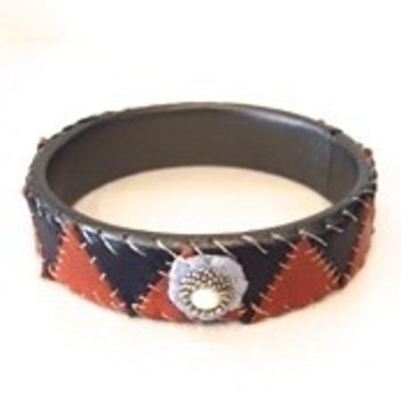 Robin Mollicone Tri Patchwork Bracelet - Chrysophase
