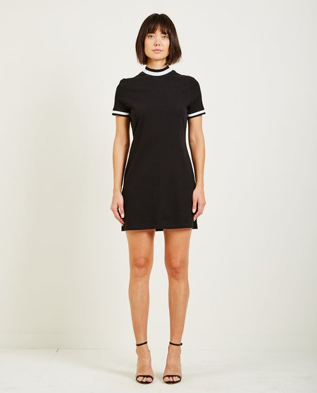 T By Alexander Wang HIGH TWIST JERSEY DRESS - BLACK