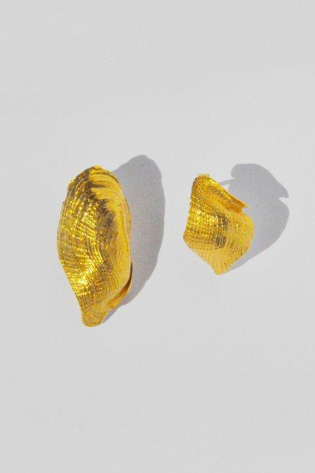 Brigitta Flawed Earrings - Gold