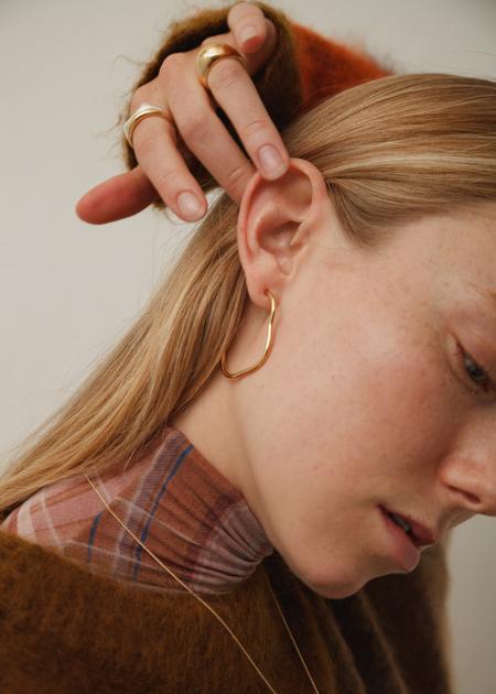 Wolf Circus Arp Hoop Earrings - Gold