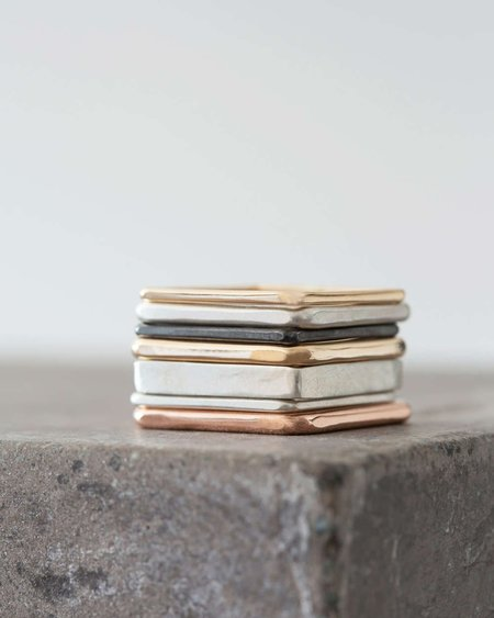 Colleen Mauer Designs Four Color 7-Square Stack Rings