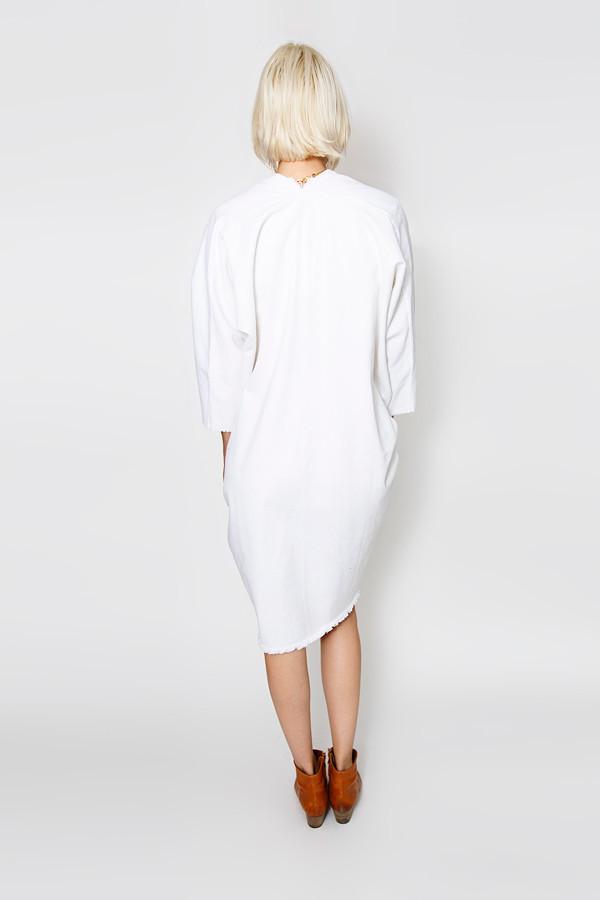 Miranda Bennett White Muse Dress   Denim