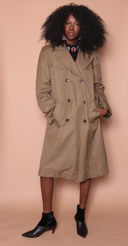 """Unisex """"INTENTIONALLY __________."""" Archive 780 Trench Coat"""