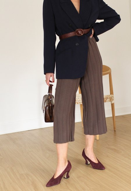 LUCCA Ribbed Knit Sweater Pants - Cocoa