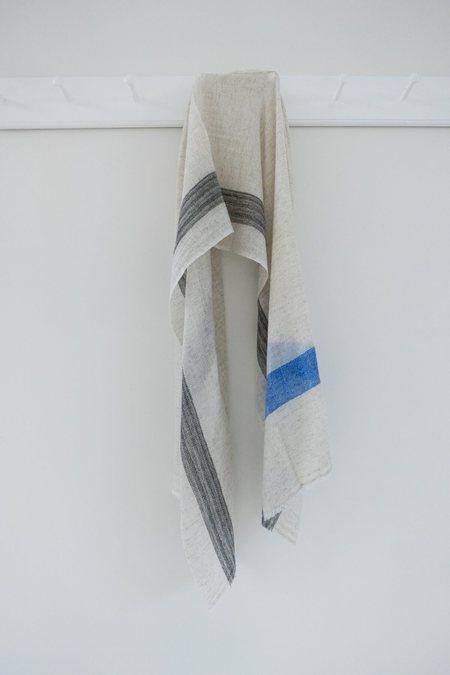 Karu Wool Scarf - Blue/Grey