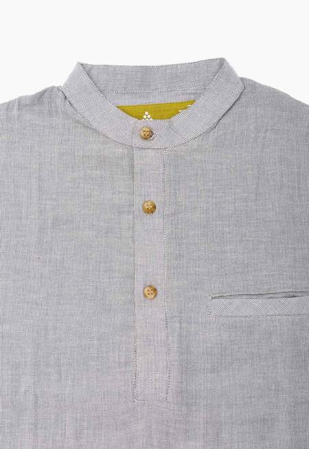 New Market Goods Azimpur Long-sleeve Popover Shirt