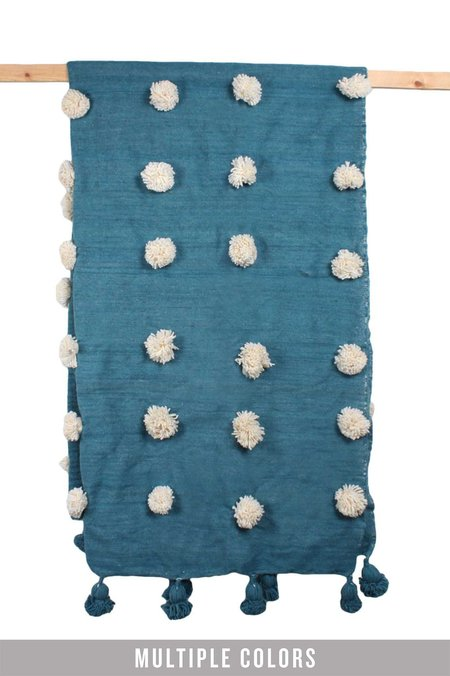 Bohemia Design Wool Super Pom Pom Blanket