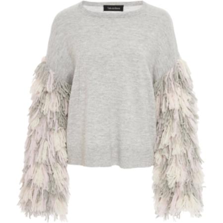 Tabula Rasa Berber Fringe Sweater - Grey Multi