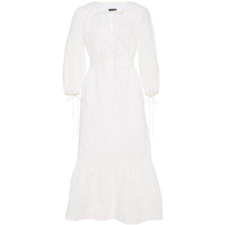 MDS Stripes Garden Dress - White Eyelet
