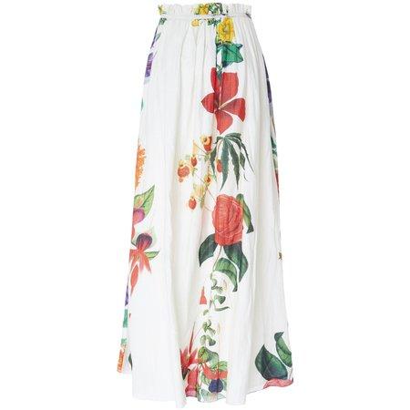 Carolina K Gloria Skirt - Big Flower White