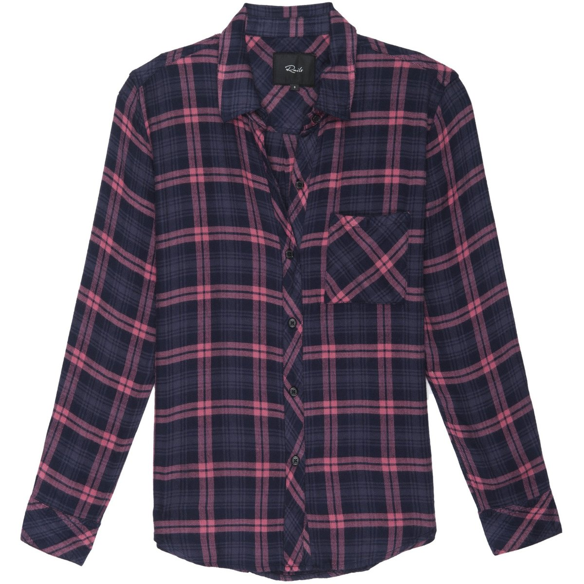 af404667 Rails Hunter Button Down - Navy/Mauve | Garmentory