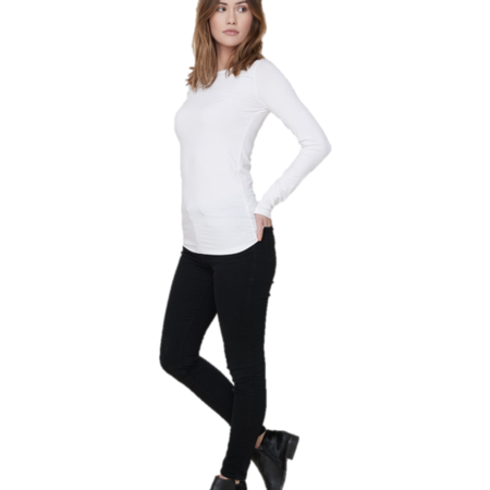 Majestic Filatures Soft Touch Long Sleeve Crew