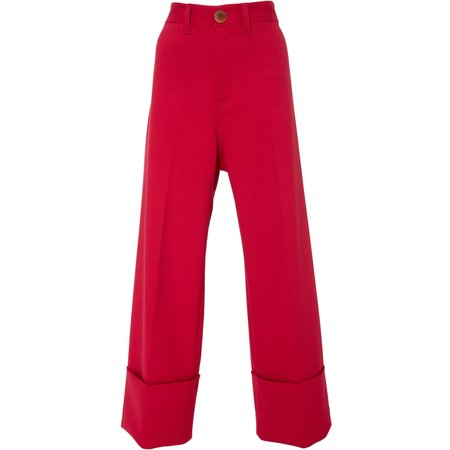 Sea New York Wool Tradition Classic Cuffed Pant - Fuchsia