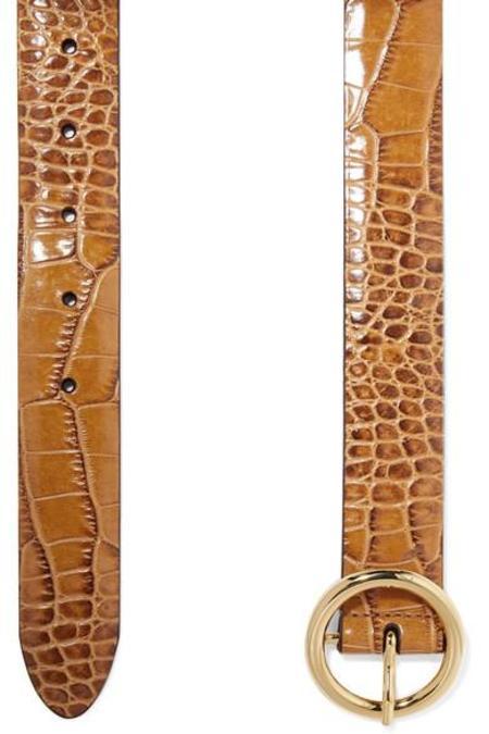 ANDERSON'S Croc-Effect Belt - Tan