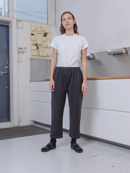 Priory Shop Brushed Ponte Bow Pant Long - Charcoal