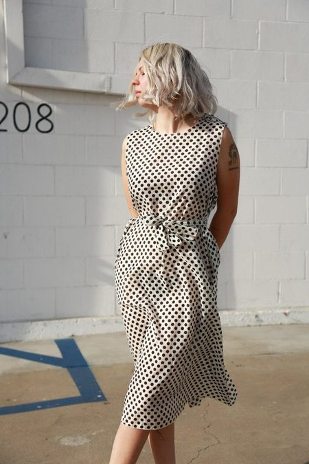 Sara Lanzi Pois Slip - White/Black Dot