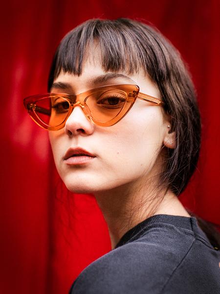Chimi 006 Cat Eye Sunglasses - Peach Clear