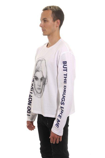 Christian Dada GIRL Oversized Long Sleeve T-Shirt - White