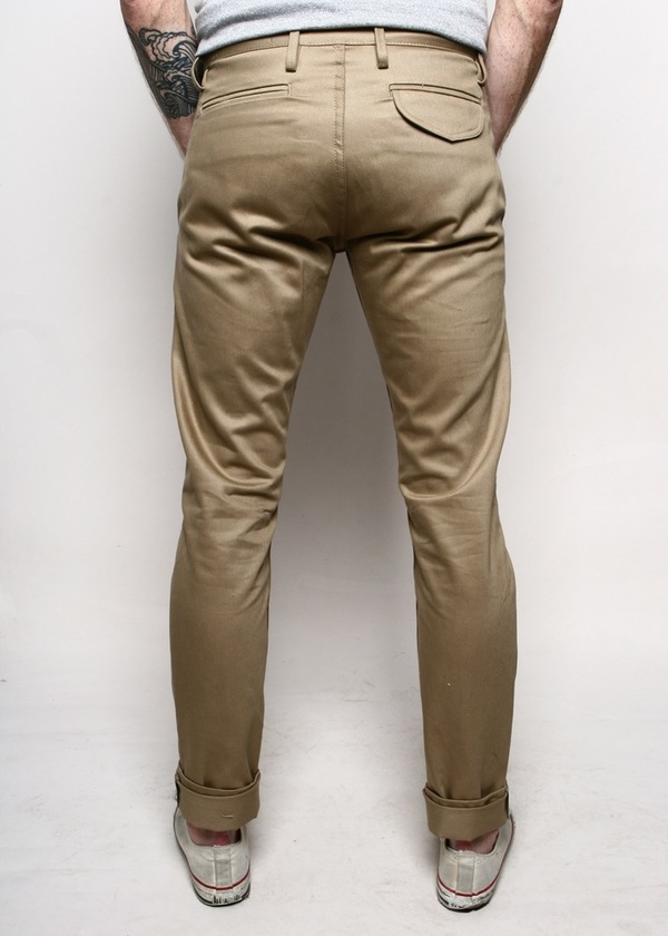 Men's Rogue Territory Officer Trousers Bronze Selvedge Twill