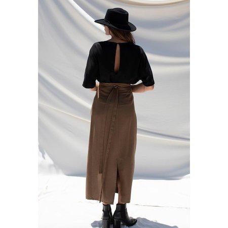 Ozma Blanket Skirt - Herringbone