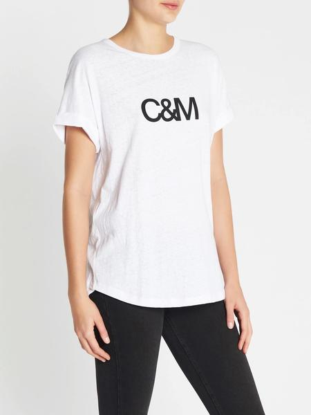 C & M Camilla And Marc Huntington Logo Slub Tee - WHITE