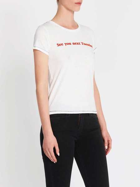 Mother Denim The Itty Bitty Goodie Goodie Tee - Bright White
