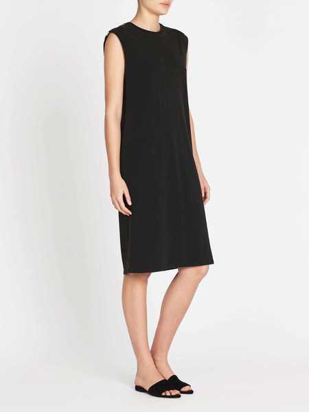 Zoe Karssen Acid Wash Loose Muscle Tank Dress - black
