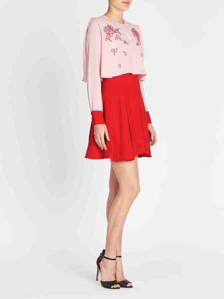THREE FLOOR Tea Time Dress - Powder Pink/Red