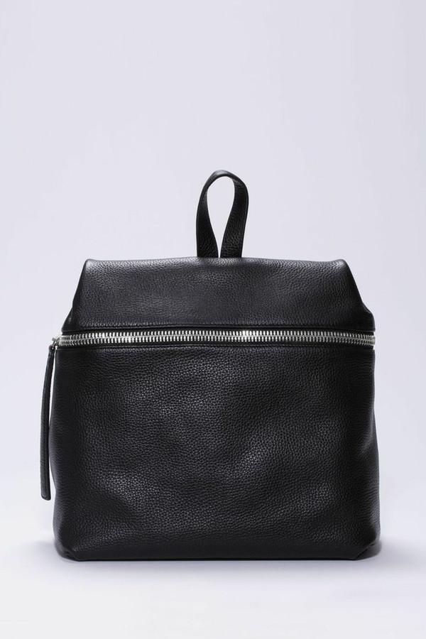 Kara Black Pebbled Backpack