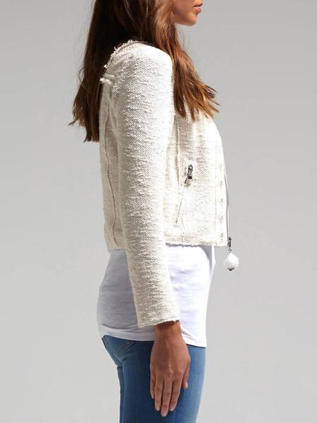 Rebecca Taylor Mirror Embellished Tweed Jacket - White