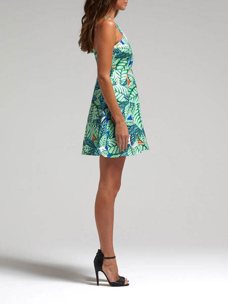Mara Hoffman Leaf Cross Front Dress