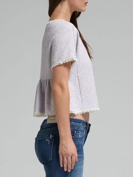 Rebecca Taylor Short Sleeved Tweed Top