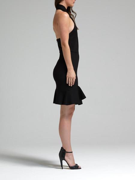 N / Nicholas Ponti Asymmetric Ruffle Dress - Black